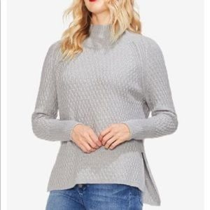 NWT VInce Camuto Mock Neck Gray Sweater S